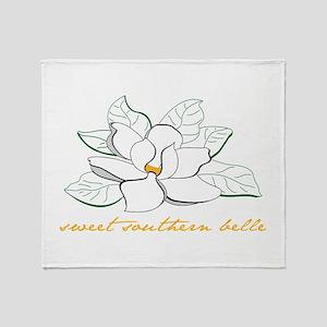 Sweet southern belle Throw Blanket