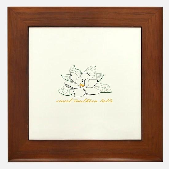 Sweet southern belle Framed Tile