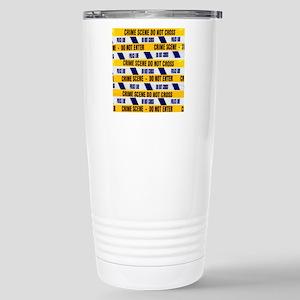 Crime scene tape Stainless Steel Travel Mug