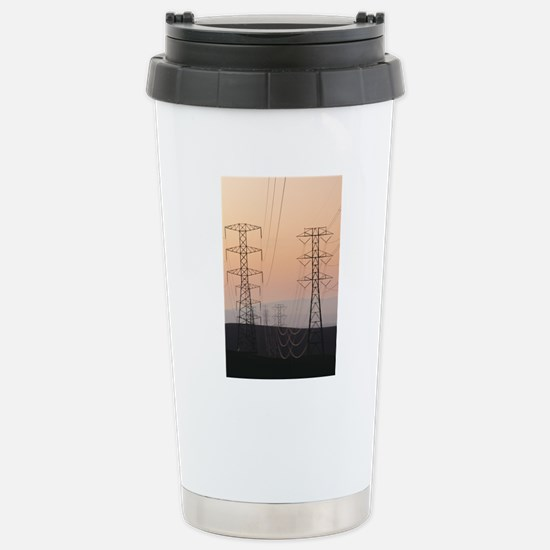 Power lines Stainless Steel Travel Mug