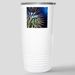 Computer artwork of a v Stainless Steel Travel Mug