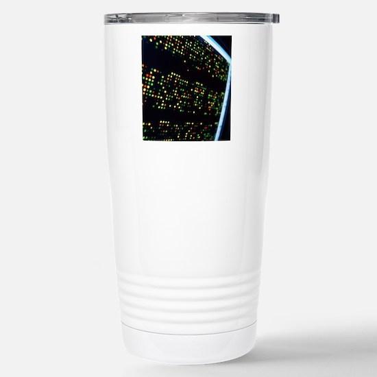 DNA microarray Stainless Steel Travel Mug