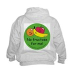 No fructose for me! Kids Hoodie with back design