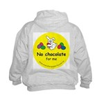 No chocolate for me Kids Hoodie-back design