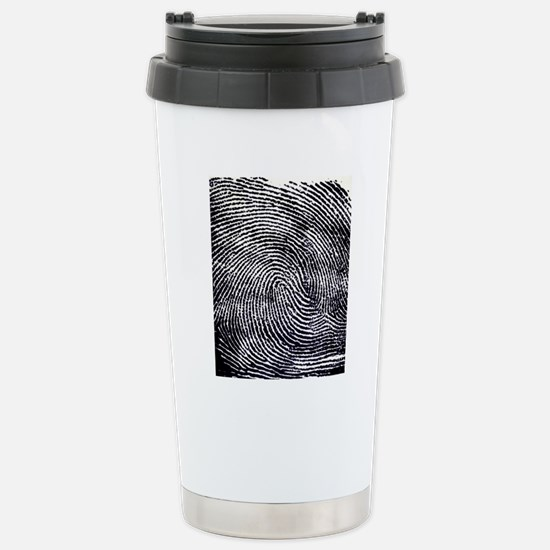 Enlarged fingerprint Stainless Steel Travel Mug