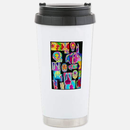 Assortment of coloured  Stainless Steel Travel Mug