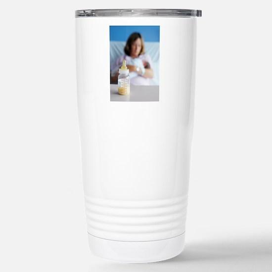 Bottle of breast milk Stainless Steel Travel Mug