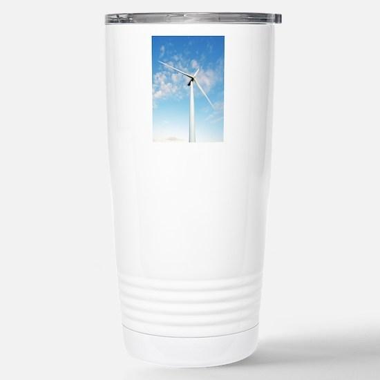 Wind turbine, Denmark Stainless Steel Travel Mug
