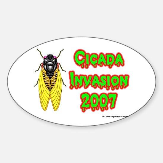 Cicada Invasion 2007 Oval Decal