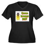 Cicada Invasion 2007 Women's Plus Size V-Neck Dark