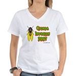 Cicada Invasion 2007 Women's V-Neck T-Shirt