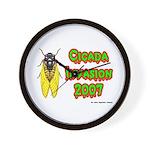 Cicada Invasion 2007 Wall Clock