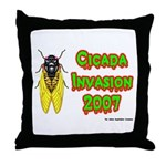 Cicada Invasion 2007 Throw Pillow