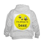 I'm allergic to bees Kids Hoodie with back design
