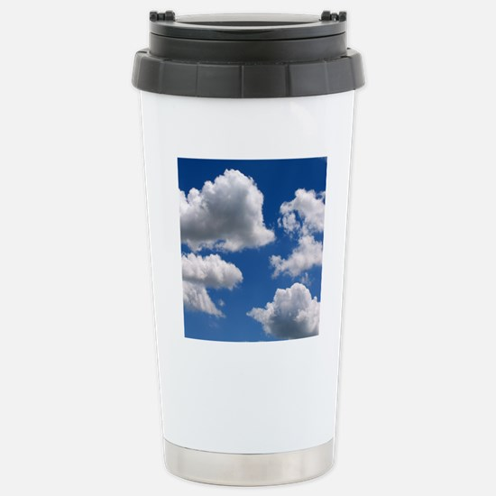 Puffy Clouds Stainless Steel Travel Mug