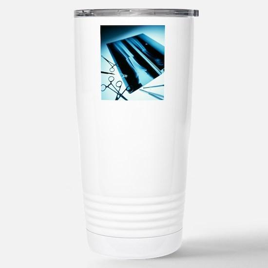 Leg fracture, X-ray Stainless Steel Travel Mug