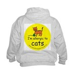 I'm allergic to cats Kids Hoodie with back design