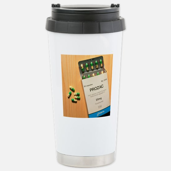 Prozac pack with pills  Stainless Steel Travel Mug