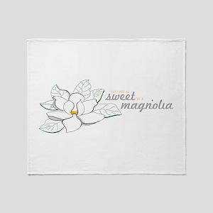 Sweet Magnolia Throw Blanket