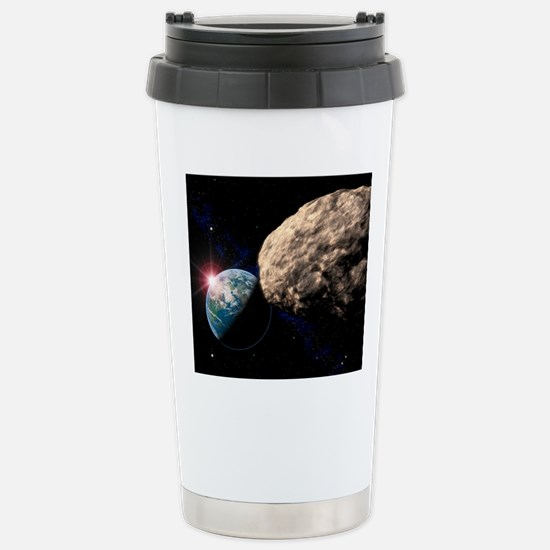 Asteroid approaching Ea Stainless Steel Travel Mug