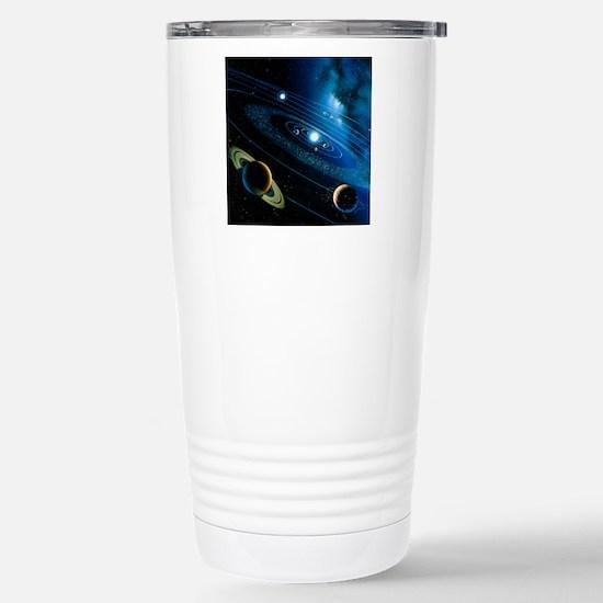 Artwork of the solar sy Stainless Steel Travel Mug