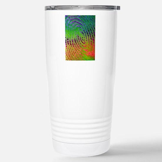 Coloured SEM of details Stainless Steel Travel Mug