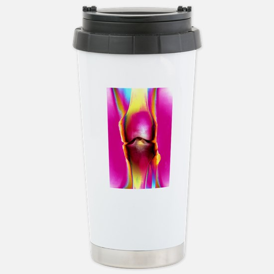 Coloured X-ray of a hum Stainless Steel Travel Mug