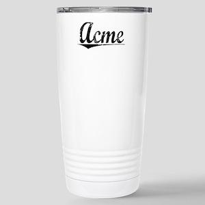 Acme, Vintage Stainless Steel Travel Mug