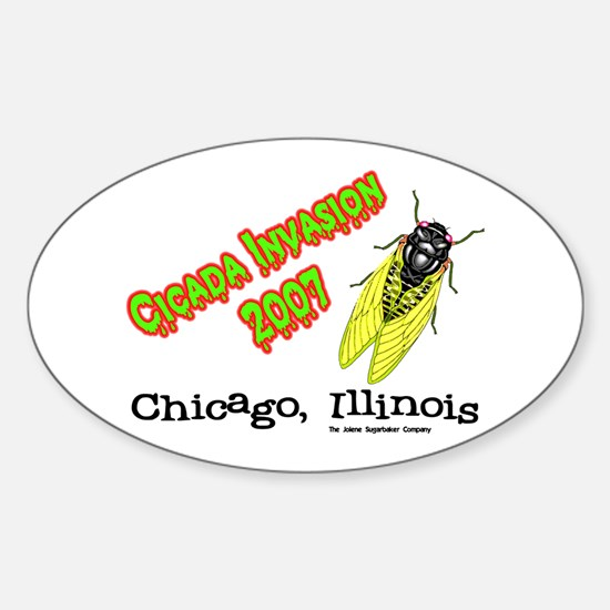 Chicago Cicada 2007 Oval Decal