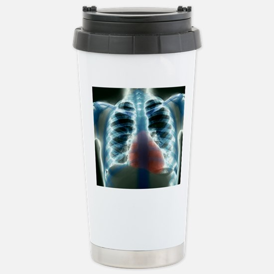 Healthy heart and lungs Stainless Steel Travel Mug