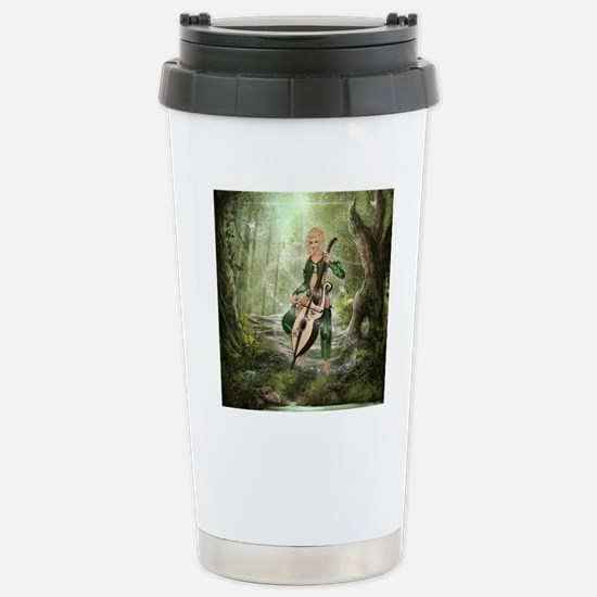 tef2_shower_curtain Stainless Steel Travel Mug