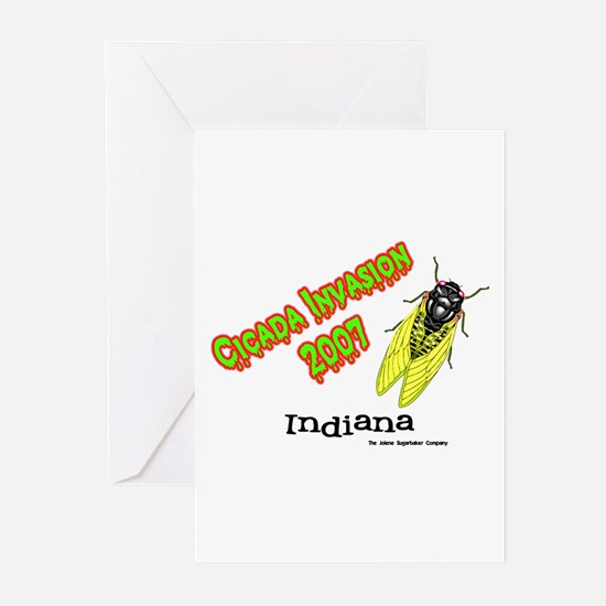 Indiana Cicada Greeting Cards (Pk of 10)
