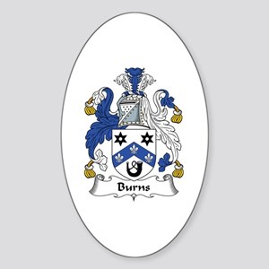 Burns Oval Sticker