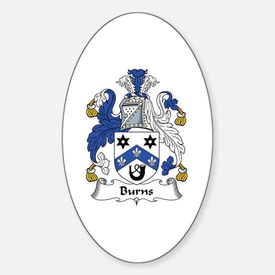 Burns Oval Decal