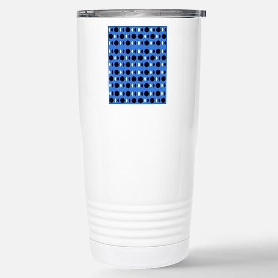 Cool Blue Black Percept Stainless Steel Travel Mug