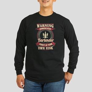 Bartender Shirt Long Sleeve T-Shirt
