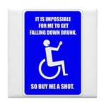 Party-Capped Tile Coaster