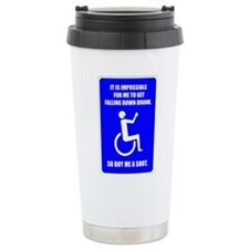 Party-Capped Stainless Steel Travel Mug