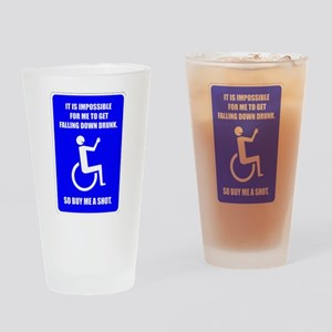 Party-Capped Drinking Glass