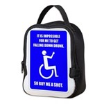 Party-Capped Neoprene Lunch Bag
