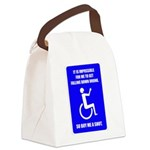 Party-Capped Canvas Lunch Bag