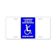 Party-Capped Aluminum License Plate