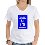 Party-Capped Women's V-Neck T-Shirt
