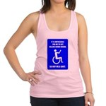 Party-Capped Racerback Tank Top