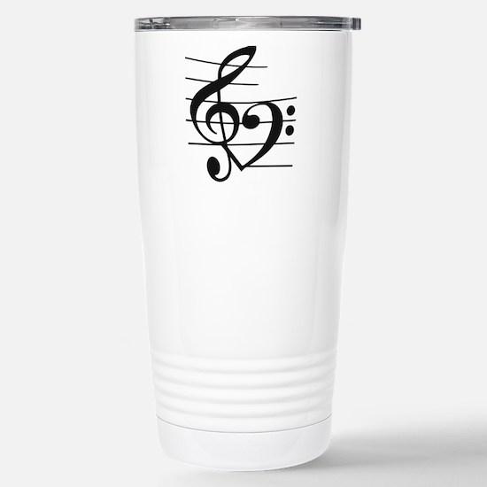 Music heart Stainless Steel Travel Mug
