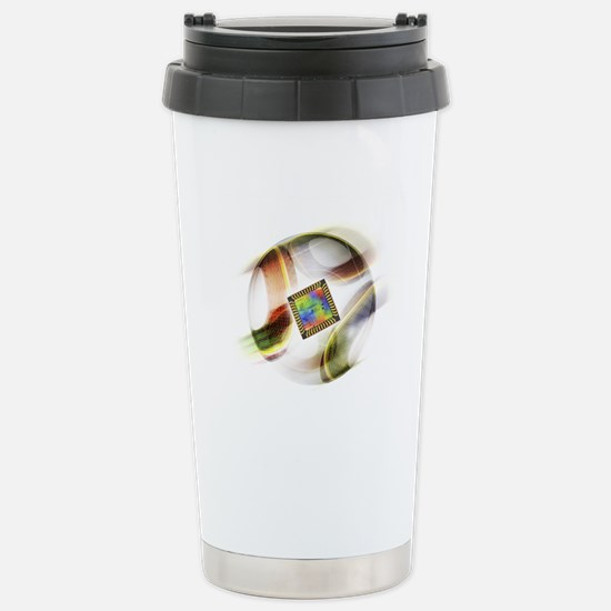 Football with chip Stainless Steel Travel Mug