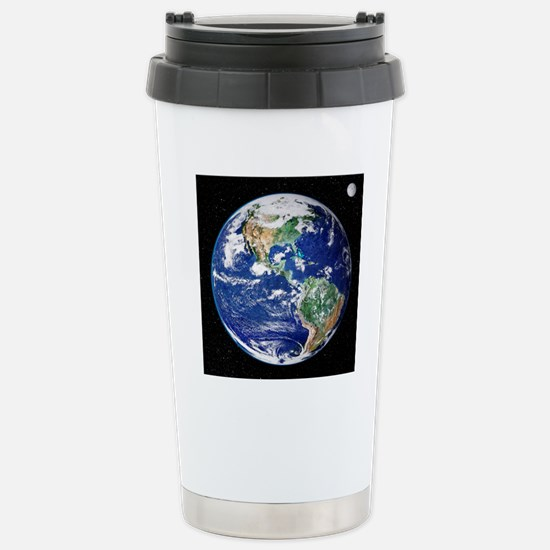 Earth from space, satel Stainless Steel Travel Mug