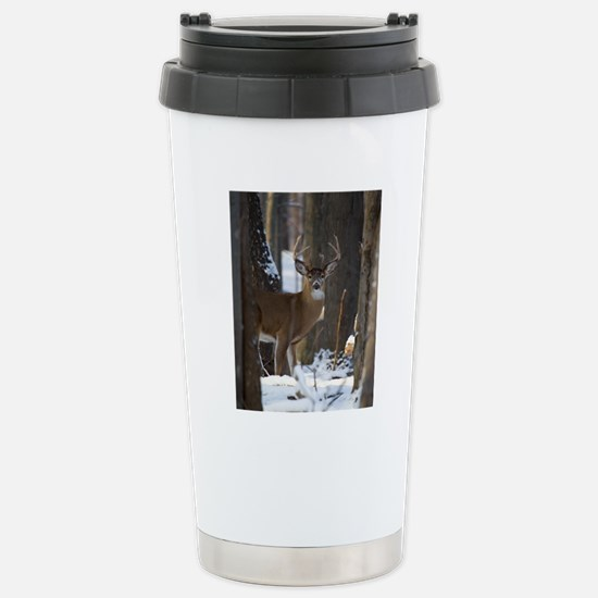 Trophy Whitetail D1316- Stainless Steel Travel Mug