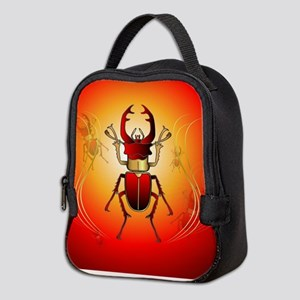 Stag beetle Neoprene Lunch Bag