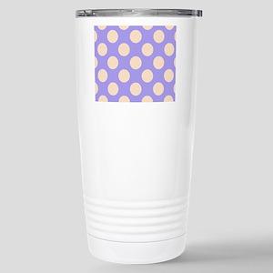 polka dots purple Stainless Steel Travel Mug